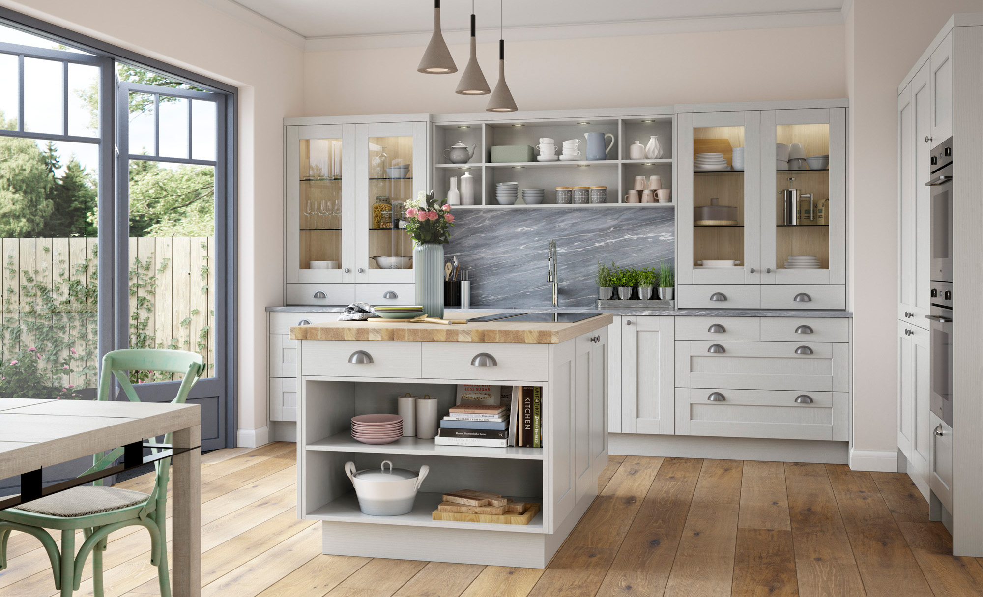 Kensington classic light grey kitchen