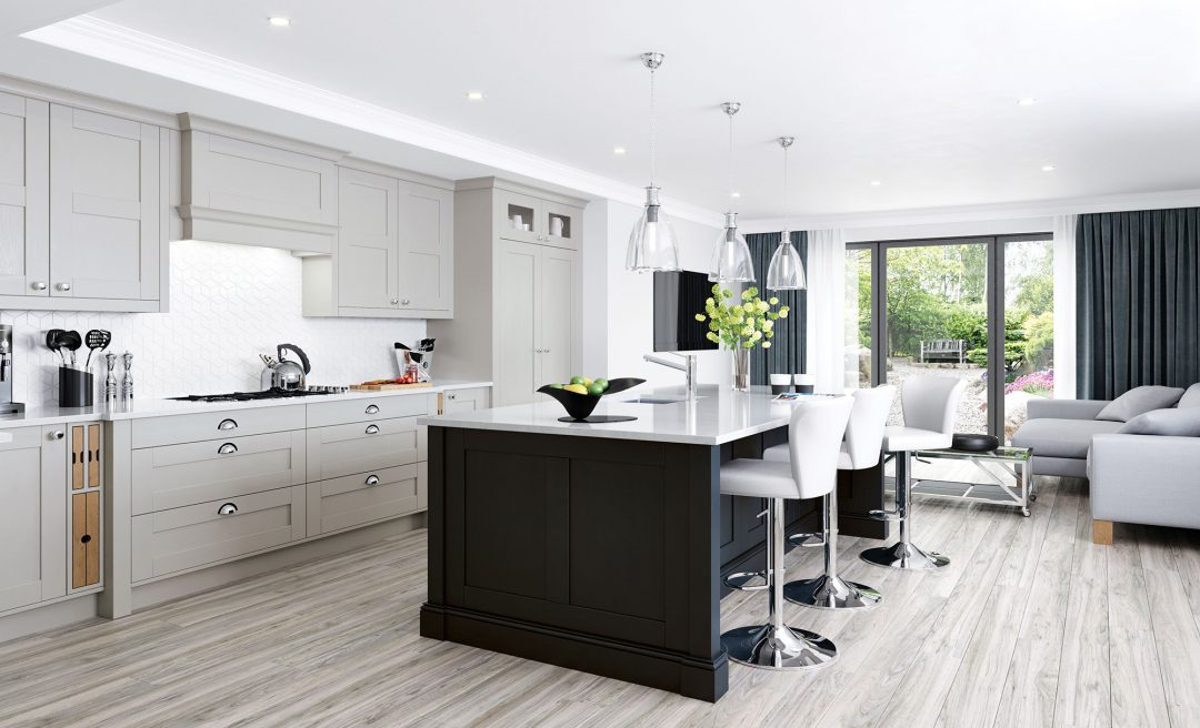 Madison classic modern kitchen graphite