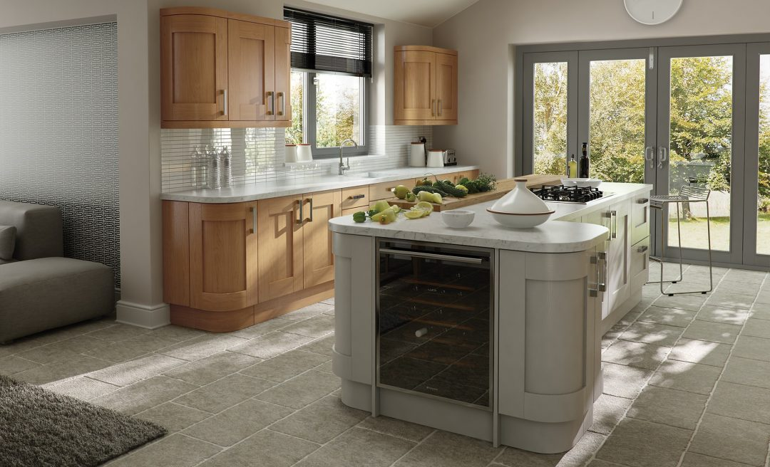 Windsor Shaker classic kitchen in oak and stone