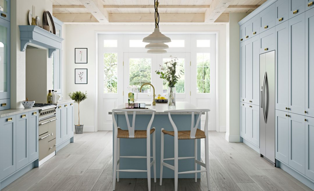 Georgia classic kitchen pantry blue