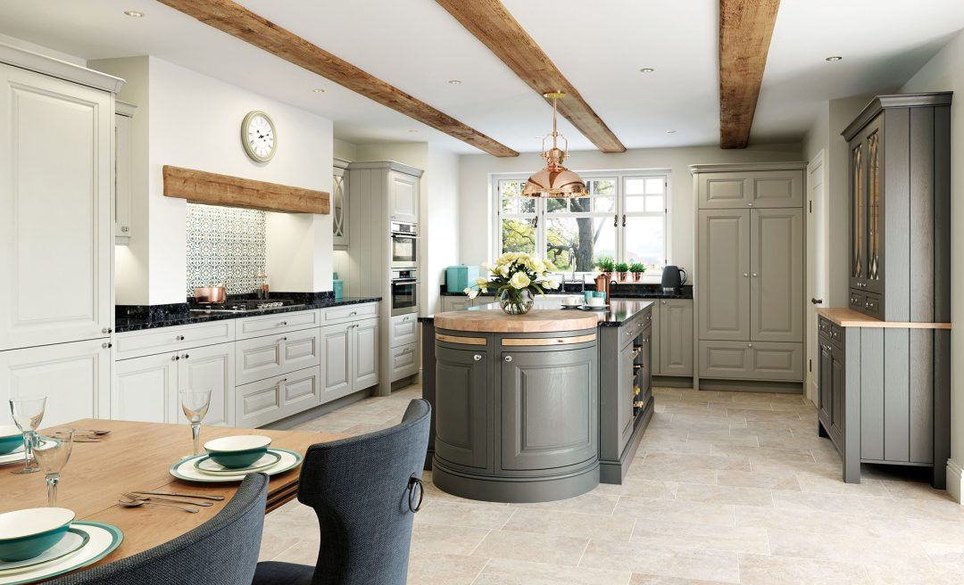 Jefferson country chic classic traditional kitchen grey