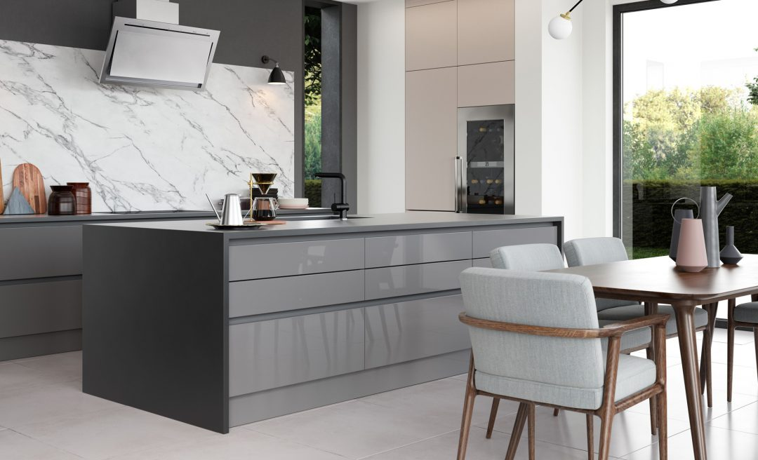 Zola and Tavola handleless kitchen