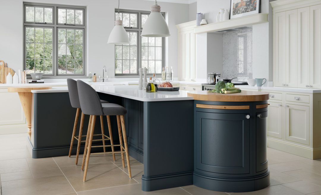 Belgravia midnight blue porcelain kitchen
