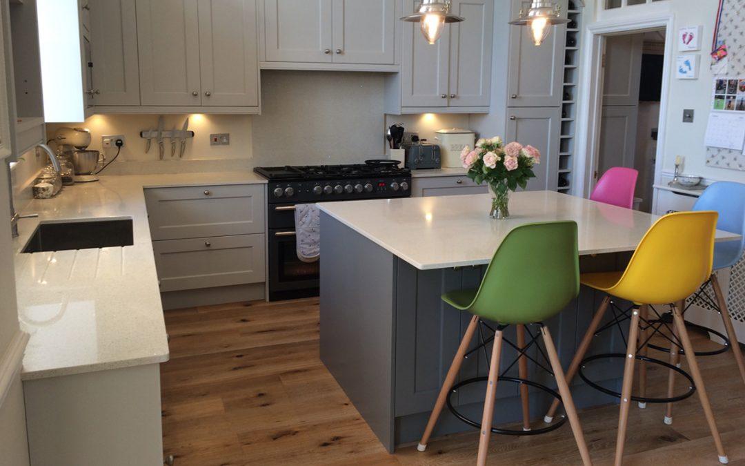 Kitchen: Madison Painted Light Grey Ash Door