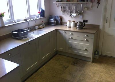 Kitchen: Madison Painted Oak with Silestone Quartz Worktops