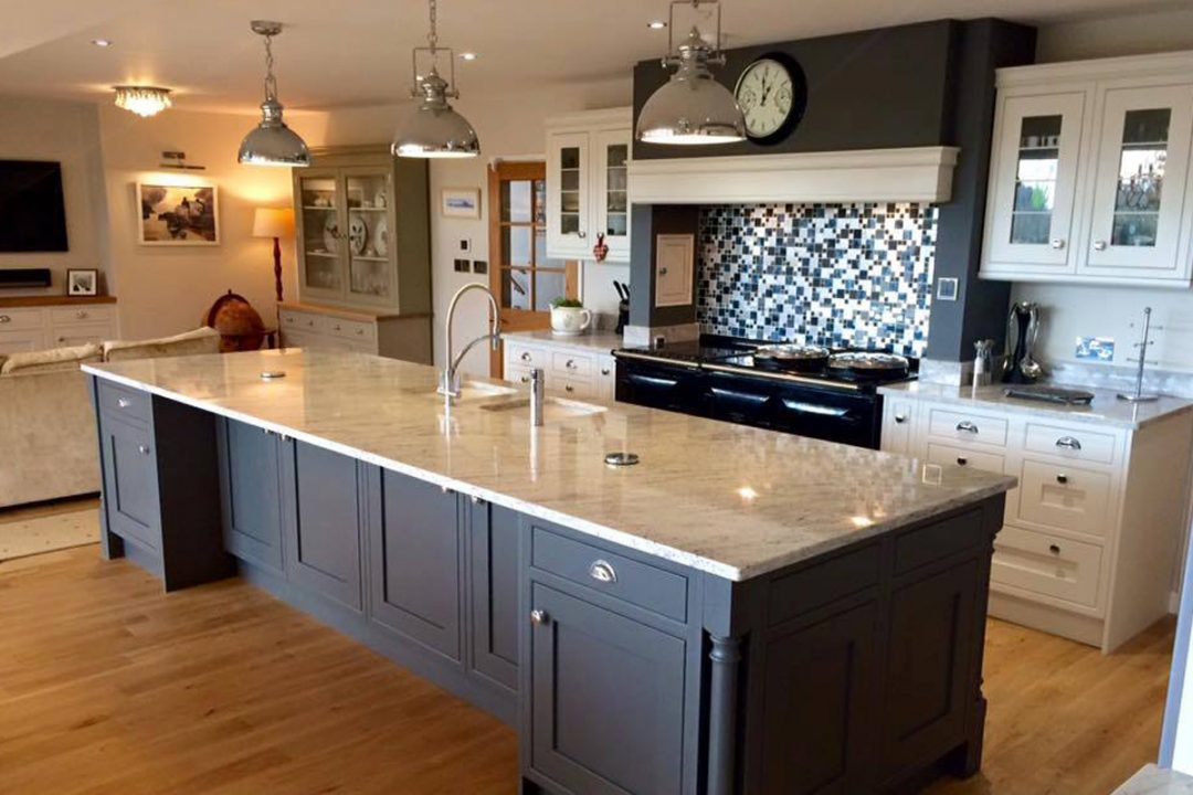 Iona In-Frame Painted Porcelain & Lava kitchen