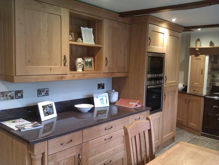 Solid oak kitchen