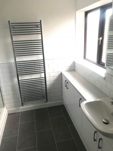 Modern Plymouth Bathroom With Subway Tiles